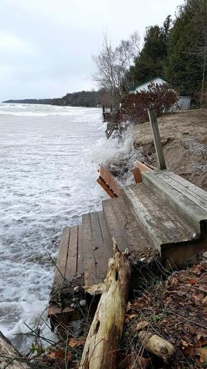 Lake Huron shoreline erosion